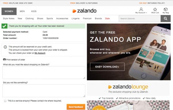 zalando survey