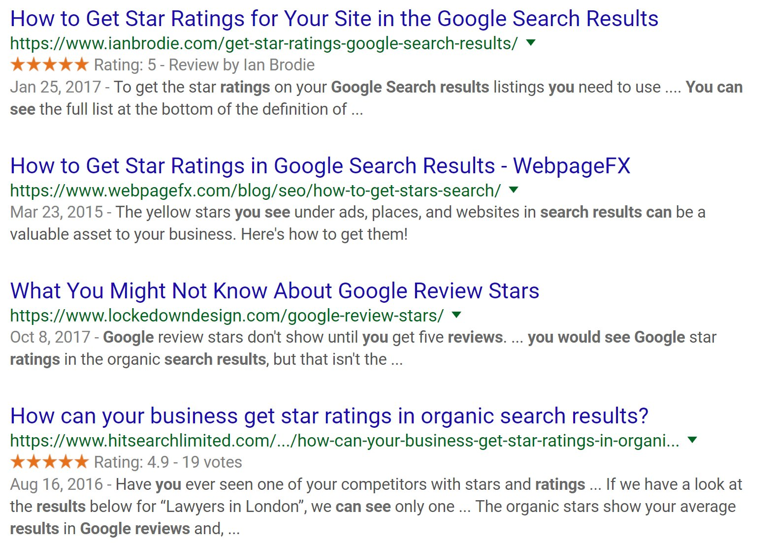 google-star-ratings