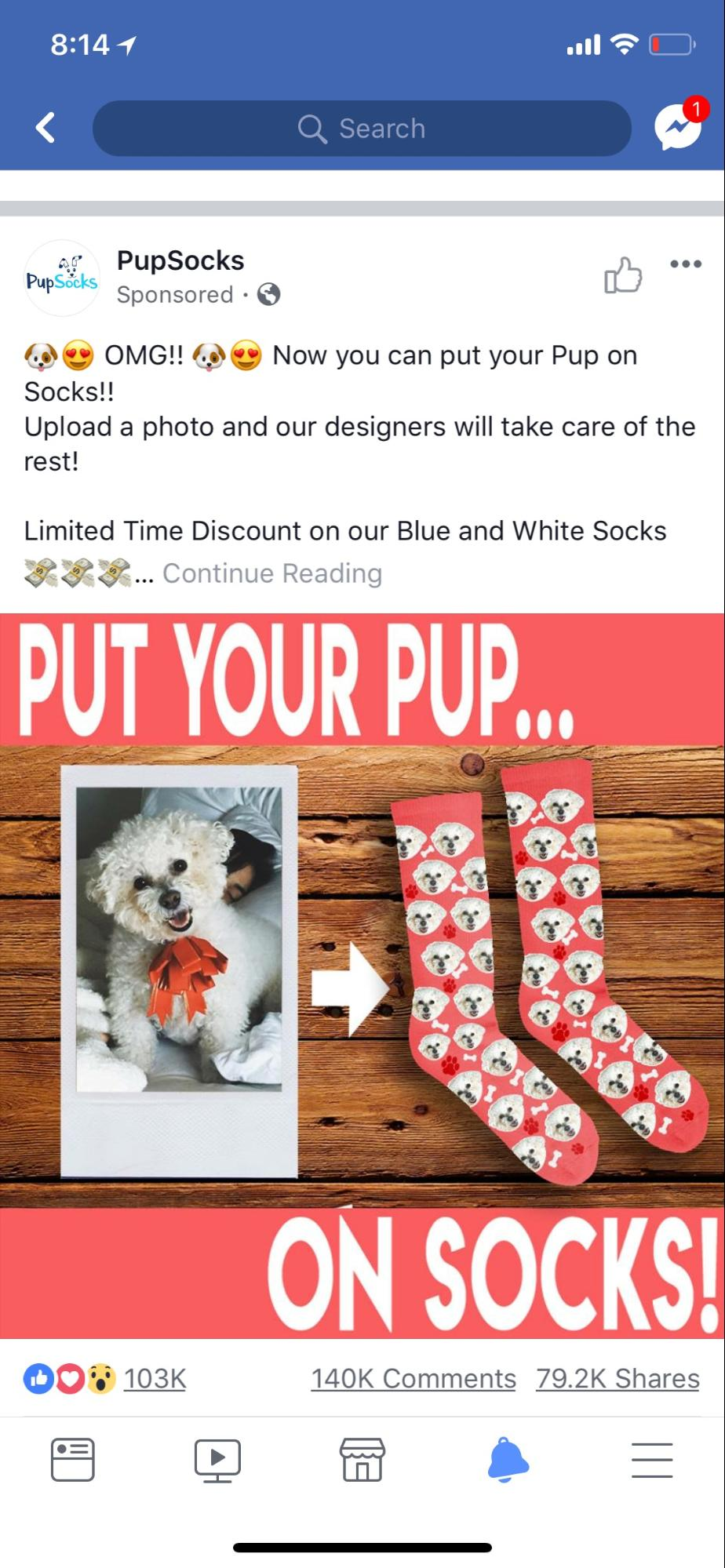 pup-socks-facebook-ad