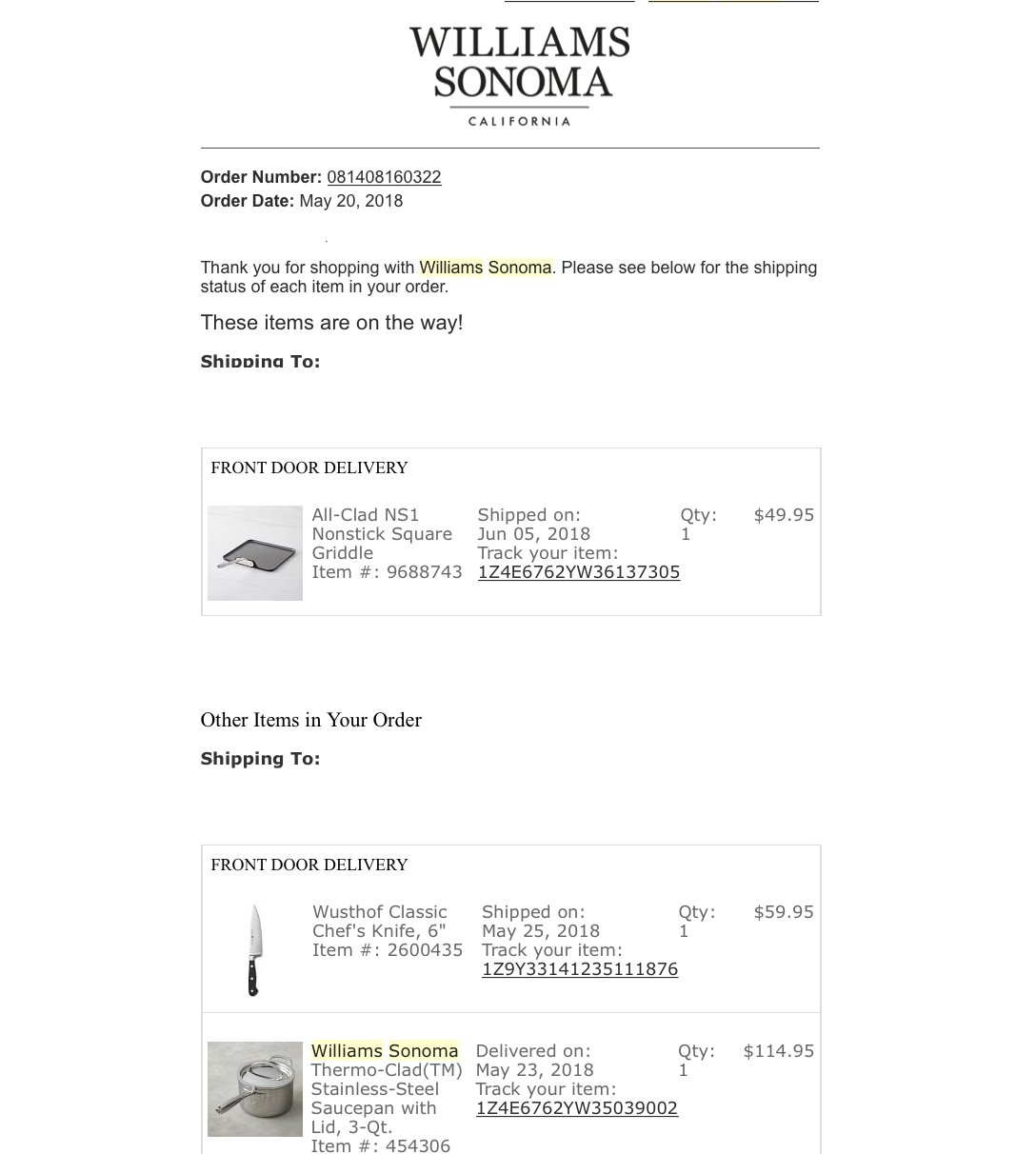 Williams-Sonoma-Confirmation-Email