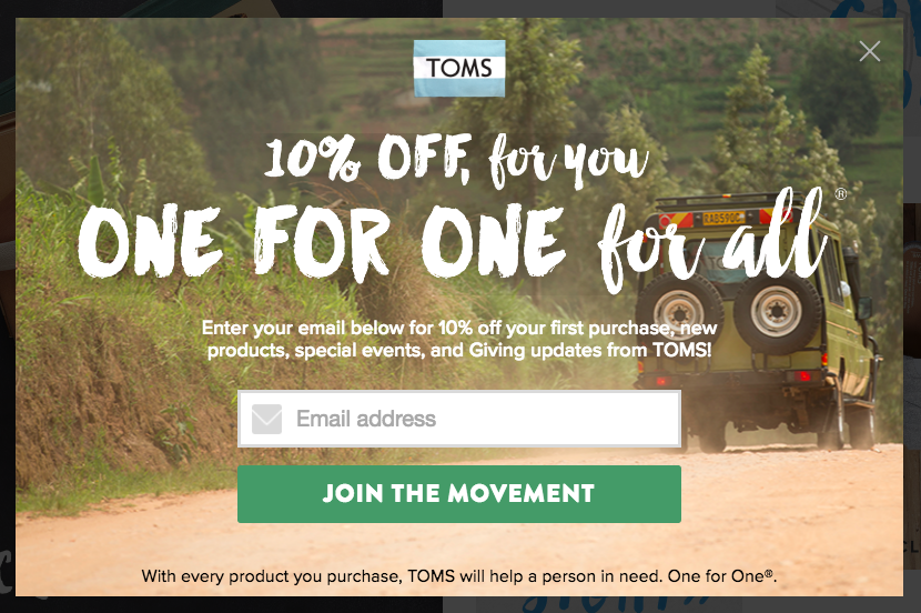 Coupon-popup-ad-example
