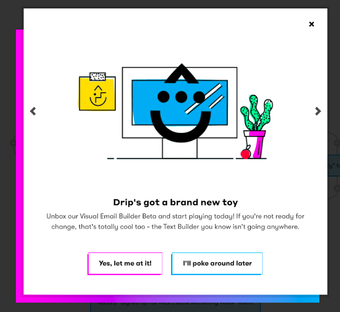 High-Contrast-Color-Pop-up-example