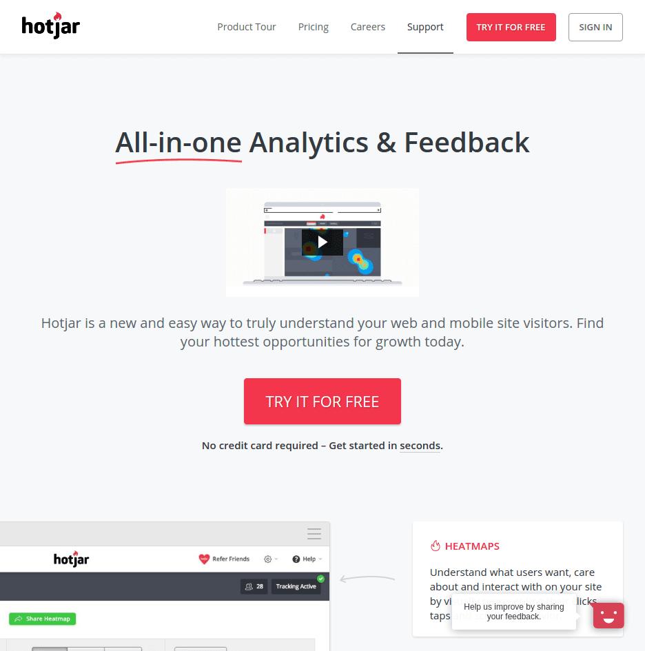 hotjar-software-landing-page